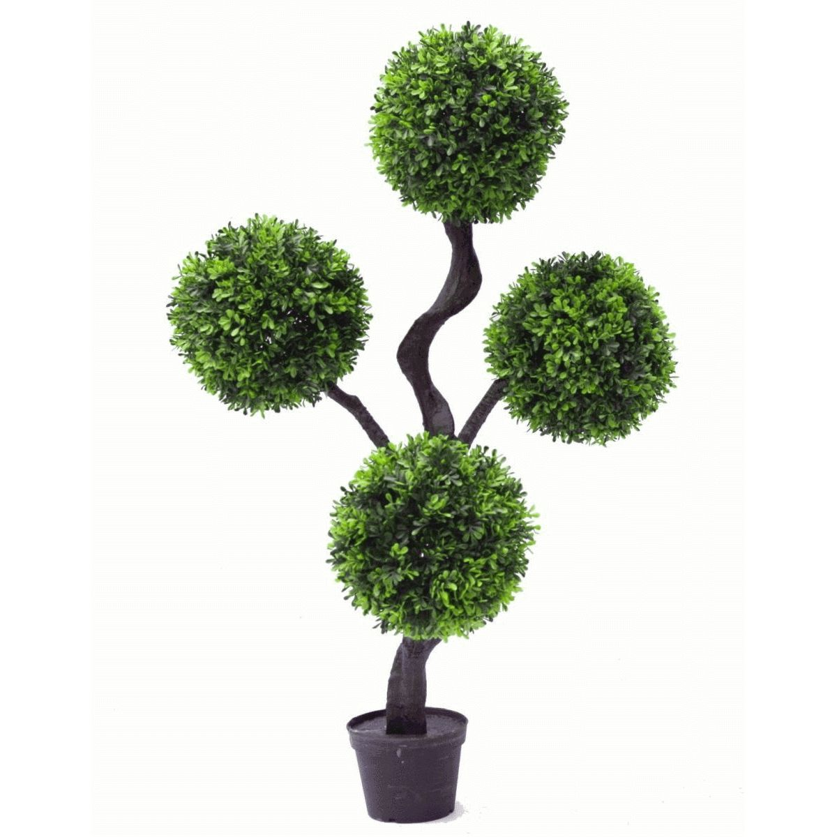 90cm 3ft Large Artificial Plant Boxwood Realistic Topiary Tree 4 Ball