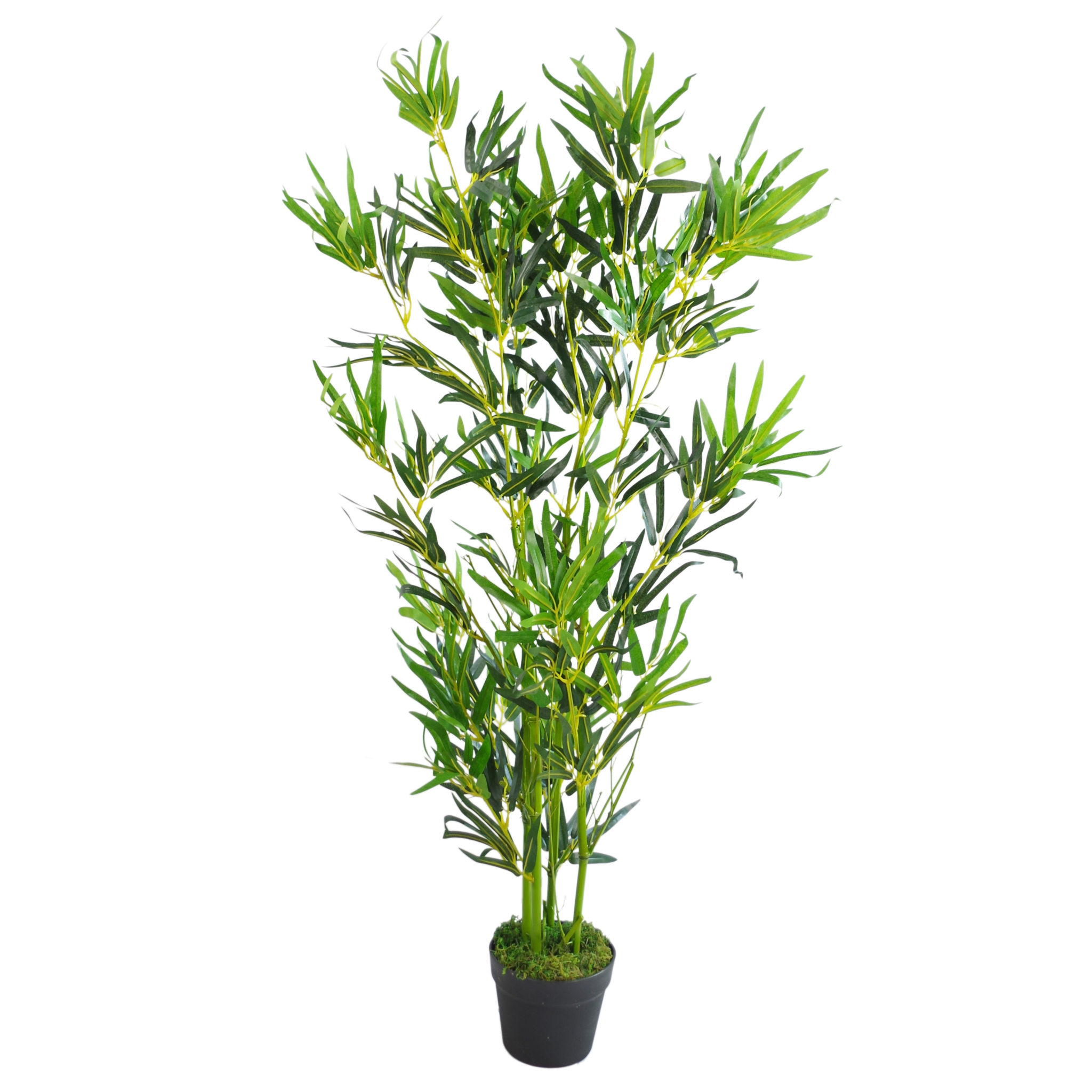 Bamboo Pants Uk: 120cm (4ft) Fat Leaf Artificial Bamboo Plants Trees