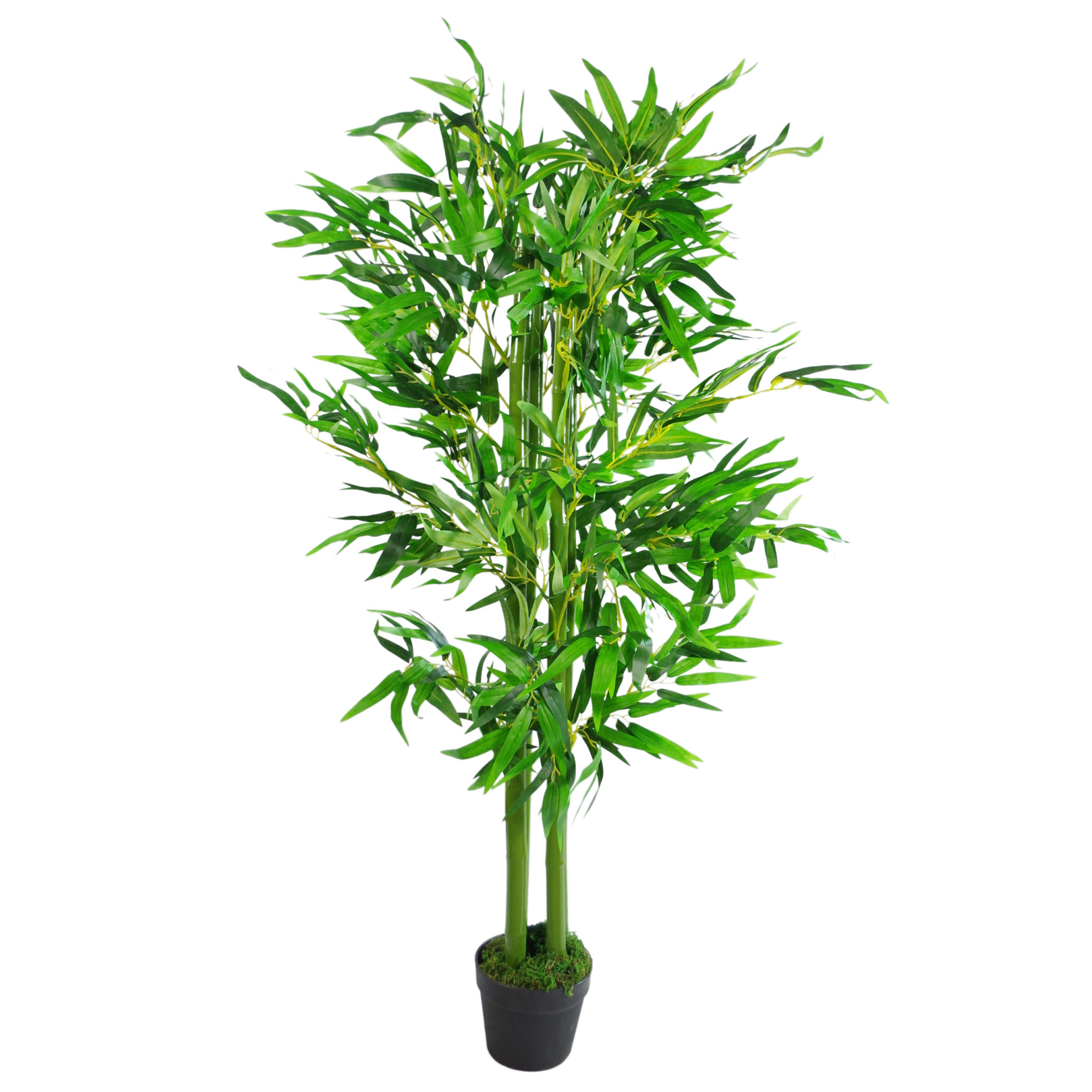 120cm  4ft  fat leaf artificial bamboo plants trees - xl