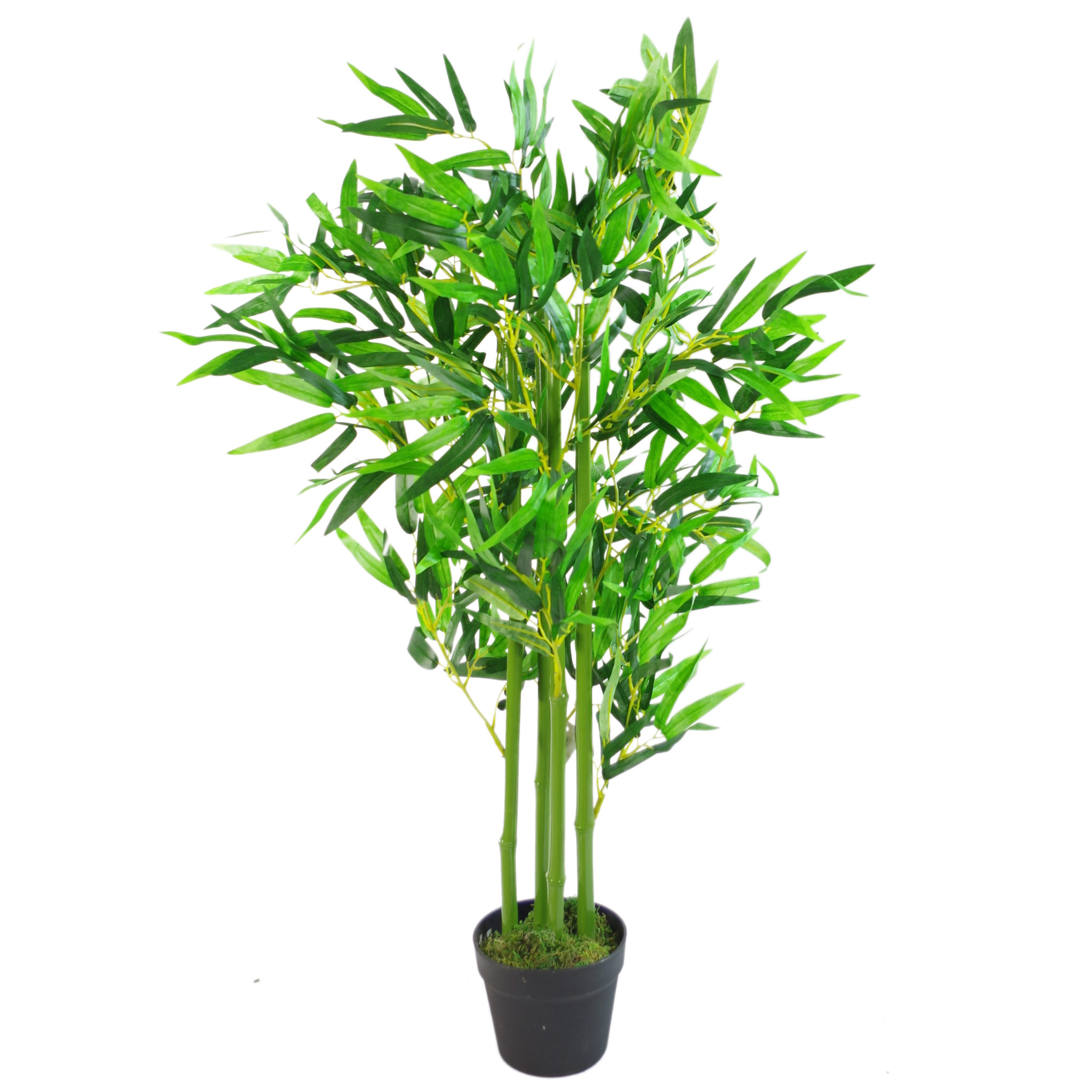 120cm 4ft Fat Leaf Artificial Bamboo Plants Trees Xl