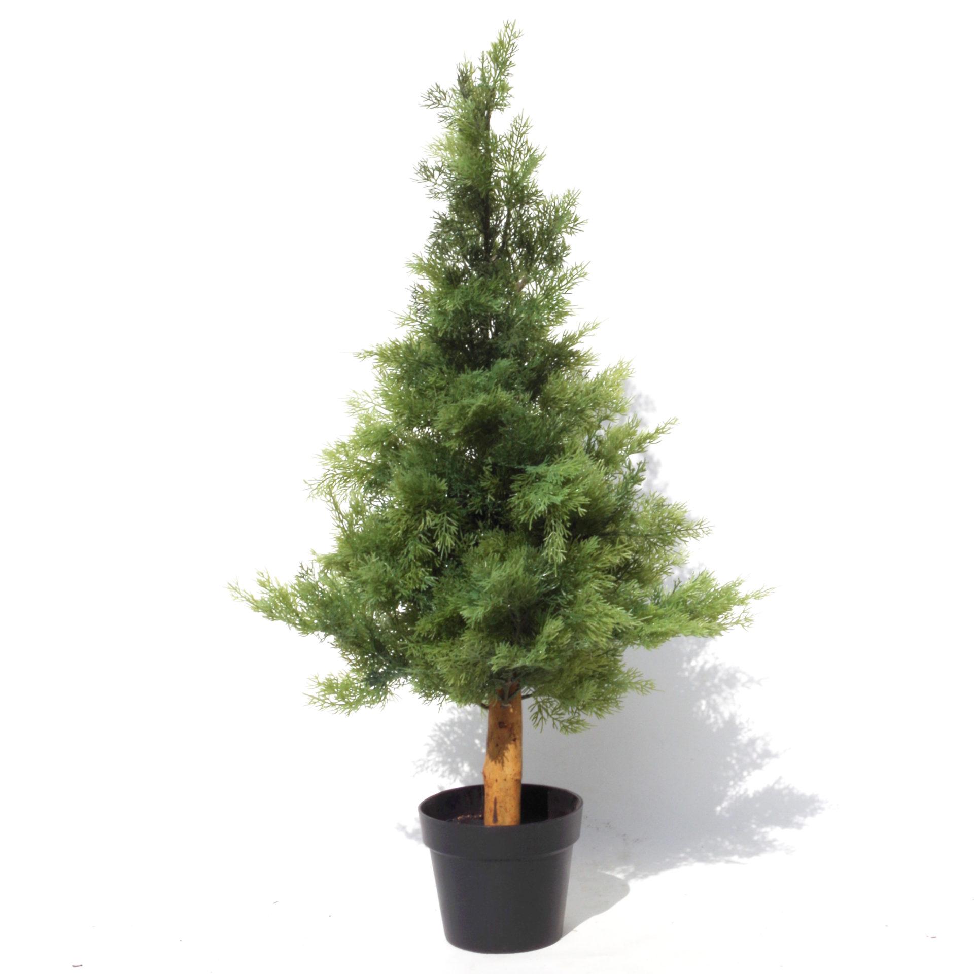 95cm Artificial Cedar Cypress Artificial Topiary Tree Uv Protected Leaf Artificial Plants