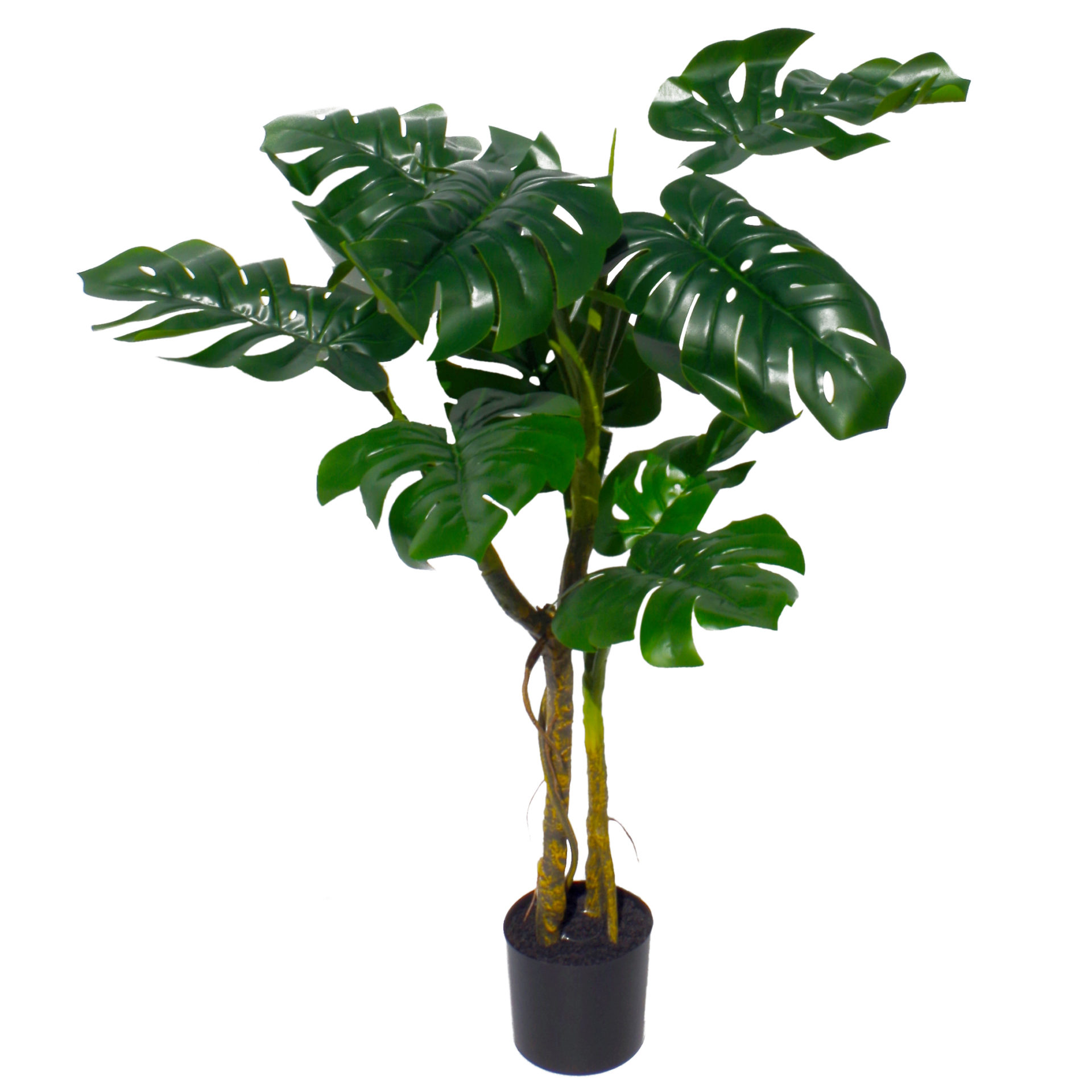 120cm Artificial Twisted Stem Monstera Plant Leaf Artificial Plants